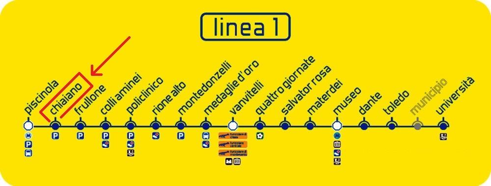 Mappa metro Vomero studio psicologia Dr.ssa Barbara Marrone
